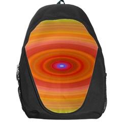 Ellipse Background Orange Oval Backpack Bag
