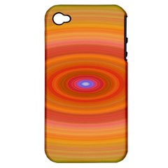 Ellipse Background Orange Oval Apple Iphone 4/4s Hardshell Case (pc+silicone)