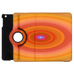 Ellipse Background Orange Oval Apple Ipad Mini Flip 360 Case