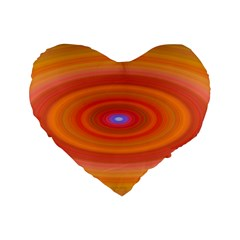 Ellipse Background Orange Oval Standard 16  Premium Heart Shape Cushions