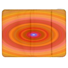 Ellipse Background Orange Oval Samsung Galaxy Tab 7  P1000 Flip Case