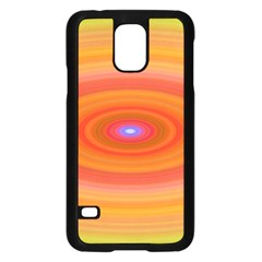 Ellipse Background Orange Oval Samsung Galaxy S5 Case (black)