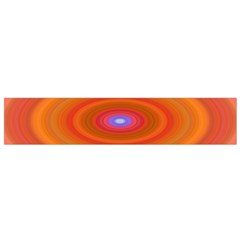 Ellipse Background Orange Oval Flano Scarf (small)