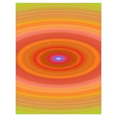 Ellipse Background Orange Oval Drawstring Bag (large)
