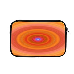 Ellipse Background Orange Oval Apple Macbook Pro 13  Zipper Case by Nexatart