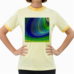 Space Design Abstract Sky Storm Women s Fitted Ringer T Shirts by Nexatart