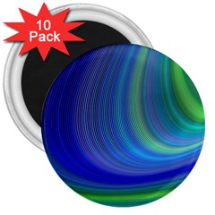Space Design Abstract Sky Storm 3  Magnets (10 Pack)  by Nexatart