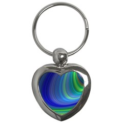 Space Design Abstract Sky Storm Key Chains (heart)