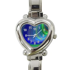 Space Design Abstract Sky Storm Heart Italian Charm Watch by Nexatart
