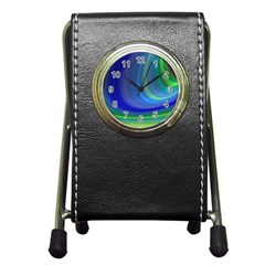 Space Design Abstract Sky Storm Pen Holder Desk Clocks by Nexatart