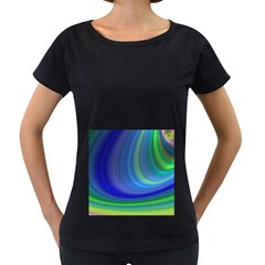 Space Design Abstract Sky Storm Women s Loose Fit T Shirt (black) by Nexatart