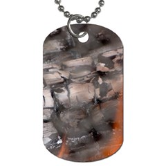 Fireplace Flame Burn Firewood Dog Tag (two Sides) by Nexatart