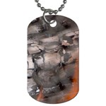 Fireplace Flame Burn Firewood Dog Tag (Two Sides) Back