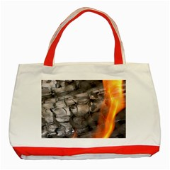 Fireplace Flame Burn Firewood Classic Tote Bag (red) by Nexatart