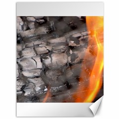 Fireplace Flame Burn Firewood Canvas 36  X 48