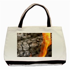 Fireplace Flame Burn Firewood Basic Tote Bag (two Sides)