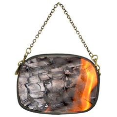 Fireplace Flame Burn Firewood Chain Purses (one Side)  by Nexatart