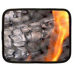 Fireplace Flame Burn Firewood Netbook Case (xl)  by Nexatart