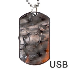 Fireplace Flame Burn Firewood Dog Tag Usb Flash (two Sides)
