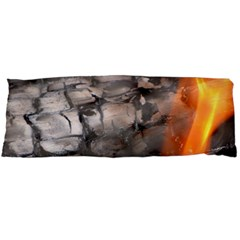 Fireplace Flame Burn Firewood Body Pillow Case Dakimakura (two Sides) by Nexatart