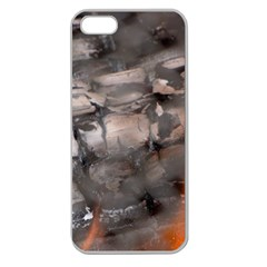 Fireplace Flame Burn Firewood Apple Seamless Iphone 5 Case (clear)