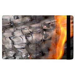 Fireplace Flame Burn Firewood Apple Ipad 2 Flip Case by Nexatart