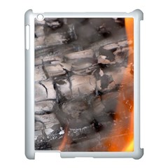 Fireplace Flame Burn Firewood Apple Ipad 3/4 Case (white)