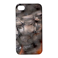 Fireplace Flame Burn Firewood Apple Iphone 4/4s Hardshell Case With Stand