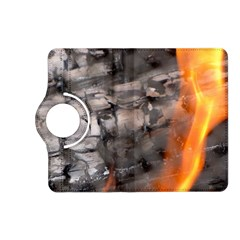 Fireplace Flame Burn Firewood Kindle Fire Hd (2013) Flip 360 Case by Nexatart