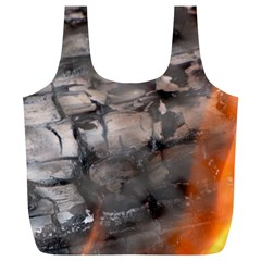 Fireplace Flame Burn Firewood Full Print Recycle Bags (l)