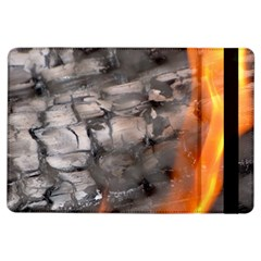 Fireplace Flame Burn Firewood Ipad Air Flip by Nexatart
