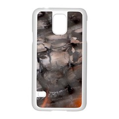 Fireplace Flame Burn Firewood Samsung Galaxy S5 Case (white)