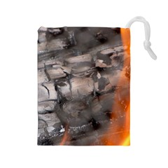 Fireplace Flame Burn Firewood Drawstring Pouches (large)