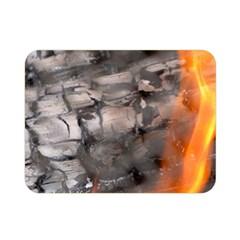 Fireplace Flame Burn Firewood Double Sided Flano Blanket (mini)