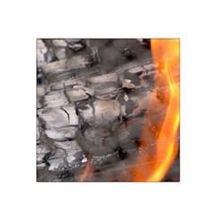 Fireplace Flame Burn Firewood Satin Bandana Scarf