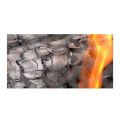 Fireplace Flame Burn Firewood Satin Wrap