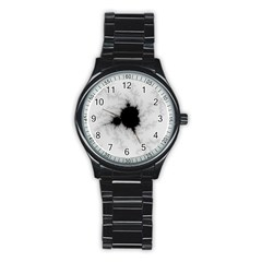 Almond Bread Quantity Apple Males Stainless Steel Round Watch