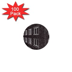 Graphics House Brick Brick Wall 1  Mini Buttons (100 Pack)