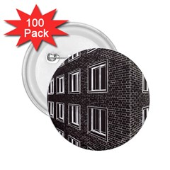 Graphics House Brick Brick Wall 2 25  Buttons (100 Pack)