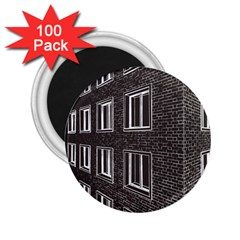 Graphics House Brick Brick Wall 2 25  Magnets (100 Pack)