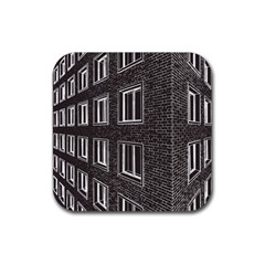 Graphics House Brick Brick Wall Rubber Square Coaster (4 Pack)
