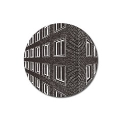 Graphics House Brick Brick Wall Magnet 3  (round)