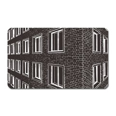 Graphics House Brick Brick Wall Magnet (rectangular)