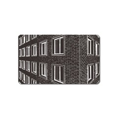 Graphics House Brick Brick Wall Magnet (name Card)