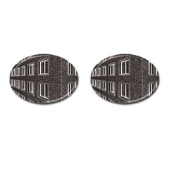 Graphics House Brick Brick Wall Cufflinks (oval)