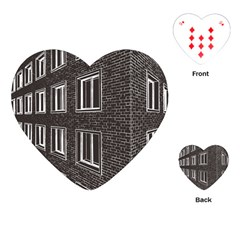 Graphics House Brick Brick Wall Playing Cards (heart)