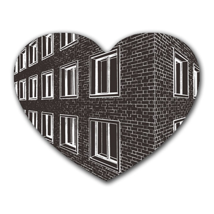 Graphics House Brick Brick Wall Heart Mousepads