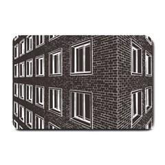 Graphics House Brick Brick Wall Small Doormat  by Nexatart