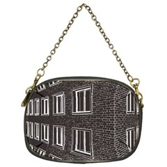 Graphics House Brick Brick Wall Chain Purses (one Side)