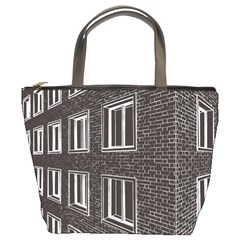 Graphics House Brick Brick Wall Bucket Bags
